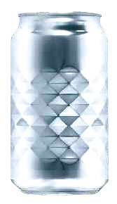 東洋製罐�の技術者が、三浦先生の論文を元につくった「ダイヤカット缶」。「キリンチュ−ハイ氷結」のパッケージとして使われている〈写真提供:キリンビール�〉