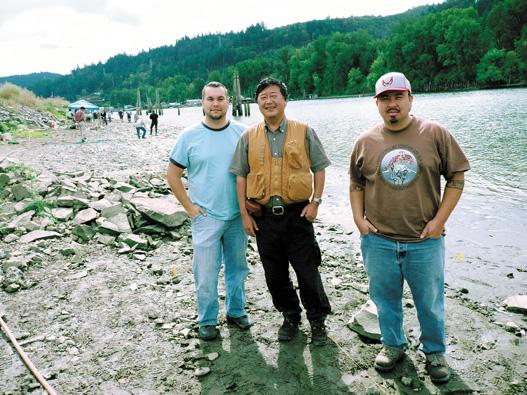 オレゴン州ポートランド市近くの、コロンビア川中州にあるサンケン・ビレッジ遺跡。水漬けの遺跡であるため、普通の遺跡では残らない植物性の遺物が多く残っており、ドングリなどが発掘された〈写真提供:松井 章氏〉