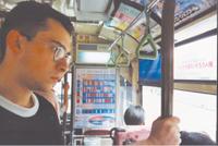 大学時代に初めて京都にホームステイに来たときの様子。その後、静岡大学に留学し、日本語学について本格的な研究を行なう