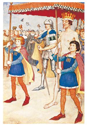 「裸の王様」見えもしない衣装を身にまといパレードに臨む王様<資料提供:森 義信氏>
