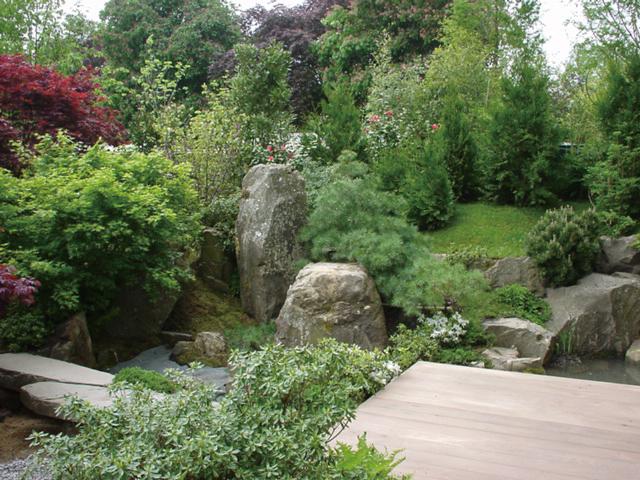 英国の園芸展「チェルシー・フラワーショー」に出展した日本庭園。日本文化特有の自然観を表現している