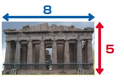 パルテノン神殿の黄金比