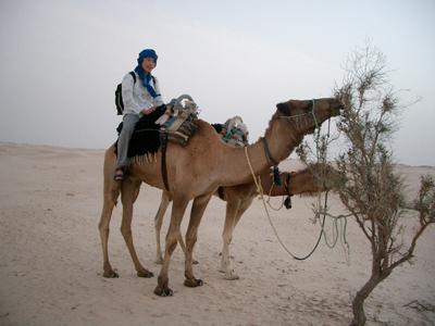 アフリカ大陸北部に広がる世界最大の砂漠「サハラ砂漠」での様子<写真提供:長沼 毅氏>