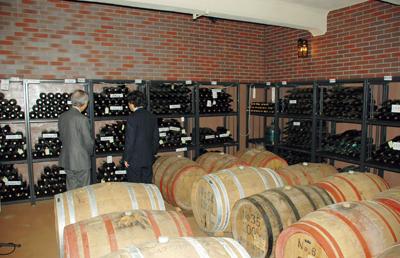山梨大学ワイン科学研究センターにあるワイン貯蔵庫。60年ほど前の古いワインなども保管されている